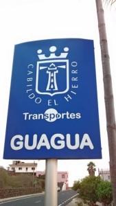 Foto: Schild einer Bushaltestelle auf El Hierro