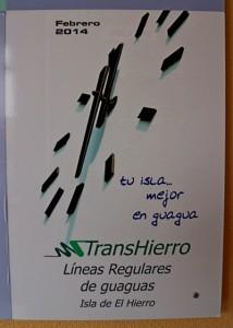 Foto: Plakat der Buskooperative auf El Hierro