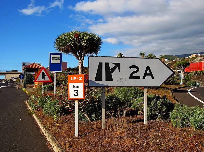 """Foto der Haltestelle """"Cruce Cancajos"""" auf der Insel La Palma"""