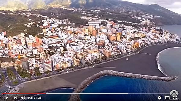 Antena3 Primer chapuzón en la nueva playa de Santa Cruz de La Palma