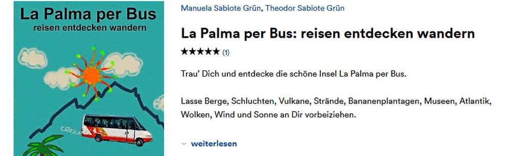 Screenshot von thalia.de mit dem eBook La Palma per Bus
